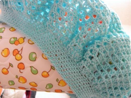 Связа пока только основу из ажурной пехорки  по схеме Голубки , получается очень красиво. фото 4