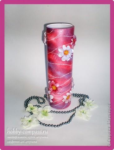 В этом мастер-классе будем декорировать стеклянную вазу с применением термопленки фридекор.