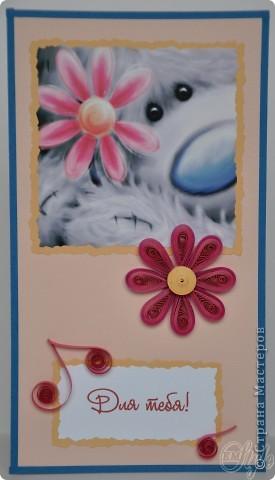 Всем доброго времени суток! Я опять с открытками) Нашёлся у меня завалявшийся настольный календарь на текущий год с мишками Тедди и, поскольку скоро он станет не актуален, я его изрезала и наделала открыток) - нельзя же выбросить таких симпатяг! Ну а что получилось - смотрите сами) фото 4