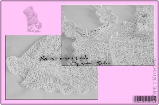 Комплект: платье с двойным подолом, повязочка на голову и носочки. Вязала под заказ для годовалой малышки. фото 2