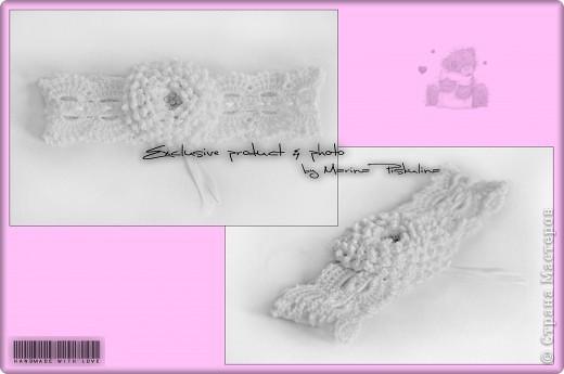 Комплект: платье с двойным подолом, повязочка на голову и носочки. Вязала под заказ для годовалой малышки. фото 3