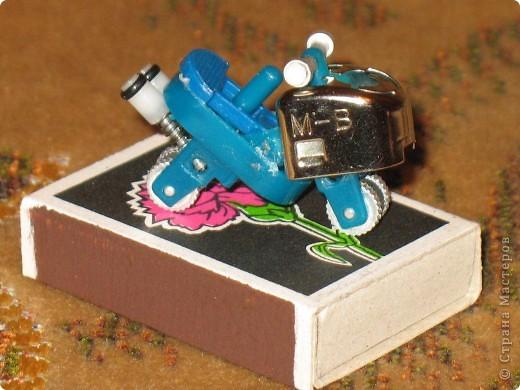 Синий мотоцикл фото 1