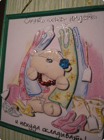 Снова шоколадницы. На тему женских слабостей. Ещё одна картинка с мишкой есть у меня в более ранней работе http://stranamasterov.ru/node/245239 . Там есть ссылка на первоисточник картинок. МАРСАМ большое спасибо за такую находку! фото 2