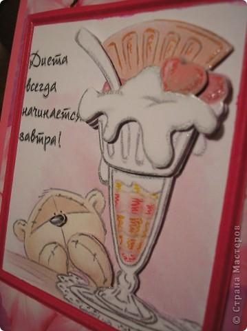 Снова шоколадницы. На тему женских слабостей. Ещё одна картинка с мишкой есть у меня в более ранней работе http://stranamasterov.ru/node/245239 . Там есть ссылка на первоисточник картинок. МАРСАМ большое спасибо за такую находку! фото 5
