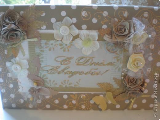 Вот такой свадебный набор получился. Он состоит из подарочного пакета, коробочки и самих бокалов. мастер-класс находится http://www.udivimka.ru/svadebnye-podarki-1905  фото 3