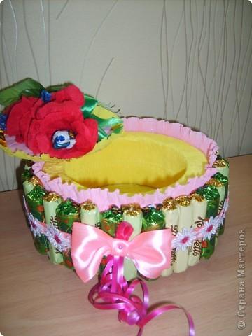 Тортик- шкатулка из конфет