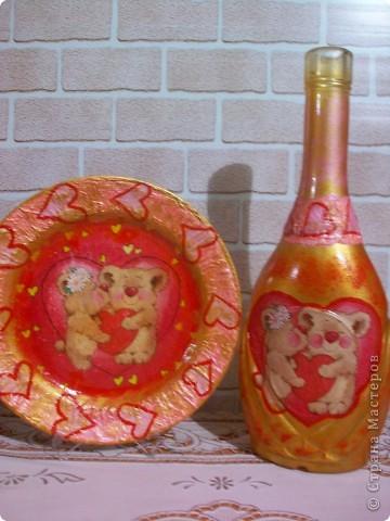 Подсела я на тарелочки.)))))Эта была сделана на подарок. фото 4