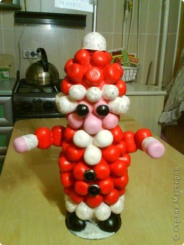 Поделка из киндер яйца на новый год