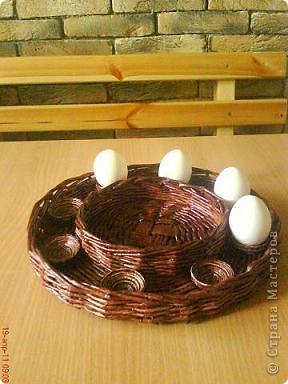 """Подарок для Татьяны Николаевны (свекрови) Интереснее всего делать ячейки для яиц, надо будет в этой технике ещё чего- нибудь """"наваять"""""""