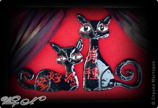 Очень люблю черных котов и иероглифы)) фото 1