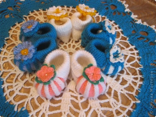 Очень понравились эти чудесные пинеточки для новорожденных! СПАСИБО авторам за подробные МК и схемы! фото 2