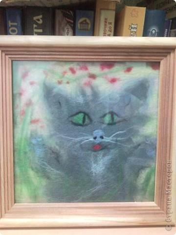 такого котеночка сделала моя дочь Сашуля, в подарок преподавателю в художественной школе на день учителя. Нам 8 лет фото 2