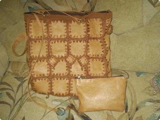 Пошила для своей студентки такую сумочку из кожзаменителя. фото 2