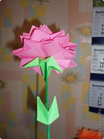 Эти цветы созданы благодаря замечательному МК allasol http://stranamasterov.ru/node/95830 ко дню учителя.  фото 4