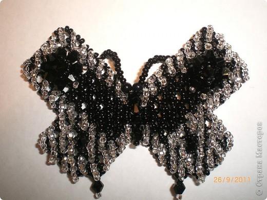 "2 жгутика, колье и брошка"" бабочки.""бисер. фото 5"
