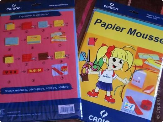 """Всем доброго времени суток! Недавно купила вот такую бумагу """"Papier Mousse """", похожа немного на прорезиненную. Очень мягкая, прекрасно сгибается и режется как по маслу, мне она очень понравилась.  фото 1"""