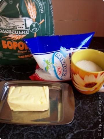 """Заварной крем. Почему отдельно. Потому, что я пользуюсь одним рецептом для разных десертов. Этот крем идет и в торт """"Наполеон"""", и в печенье """"Орешки"""", и в трубочки, и в блинчики с кремом. Разница только в его колличестве. Крем достаточно нежный, простой, и не приторный. фото 2"""