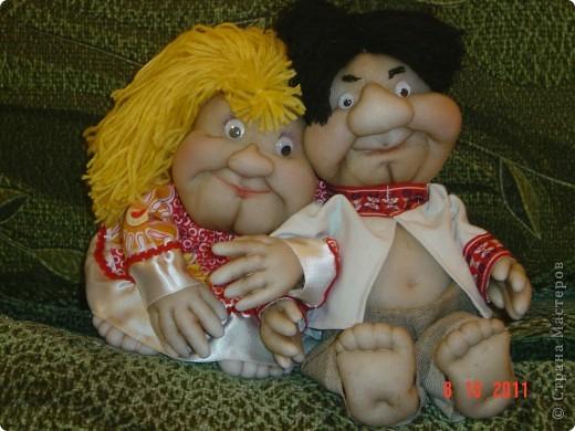 Принялась опять за своих любимых кукол-попиков. Мне понравилось, что получилось. А как Вам? фото 1