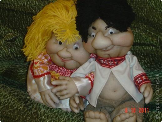 Принялась опять за своих любимых кукол-попиков. Мне понравилось, что получилось. А как Вам? фото 2