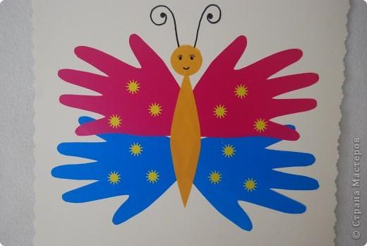 Наша ладошковая бабочка