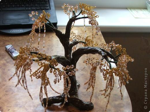 Дерево из бисера в подарок брату. Эйва или не совсем. Вообщем фентазийное. фото 1
