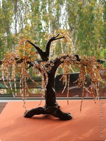 Дерево из бисера в подарок брату. Эйва или не совсем. Вообщем фентазийное. фото 2
