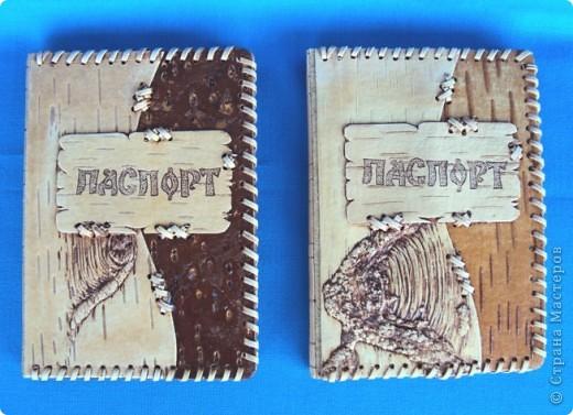 """Обложка для паспорта из бересты """"Рисунки природы"""" фото 2"""
