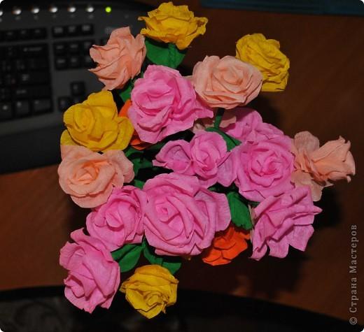 Накрутился букетик розочек для девочек с работы)  фото 1