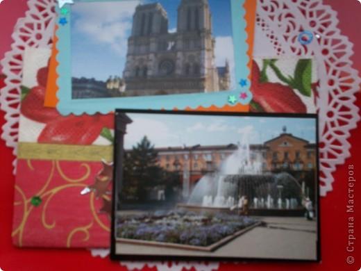 """АТС-игра Олисандры. Тема """"Влюбленный в Париж"""". Эта карточка, одна из двух, осталась у меня. фото 6"""