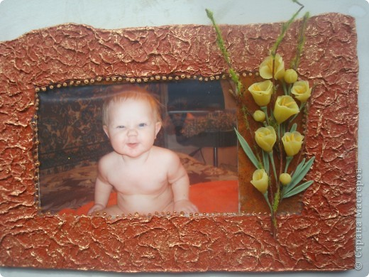 Рамочка для фото ХФ+лепка с бумаги фото 1
