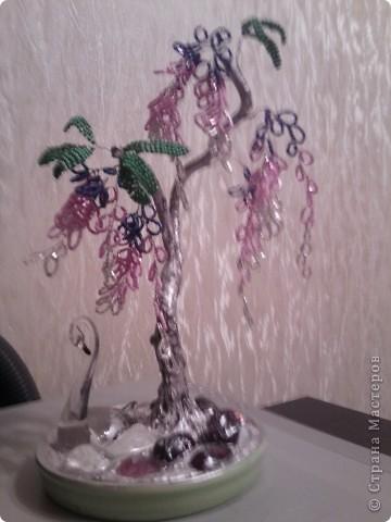 захотелось создать глицинию,ну вот такое дерево получилось. фото 1