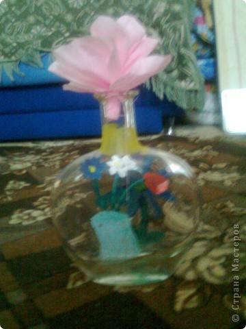 Бутылка Виноградная и цветок в ней фото 3