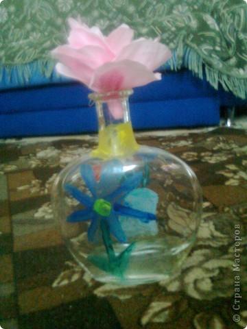 Бутылка Виноградная и цветок в ней фото 5
