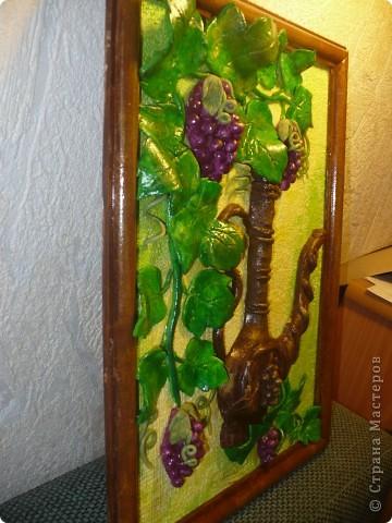 Спасибо за идею, Мэрисабэльке http://stranamasterov.ru/node/169563. Давно покоя не давал мне увиденный в её блоге кувшин с виноградом. фото 2