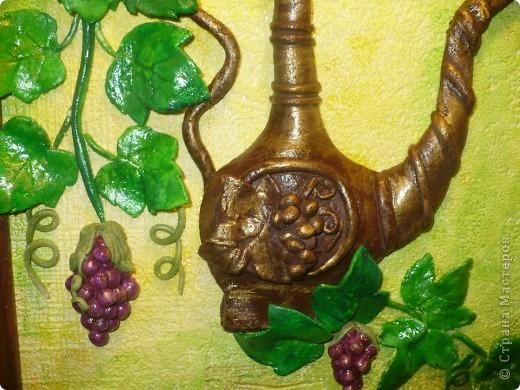 Спасибо за идею, Мэрисабэльке http://stranamasterov.ru/node/169563. Давно покоя не давал мне увиденный в её блоге кувшин с виноградом. фото 3