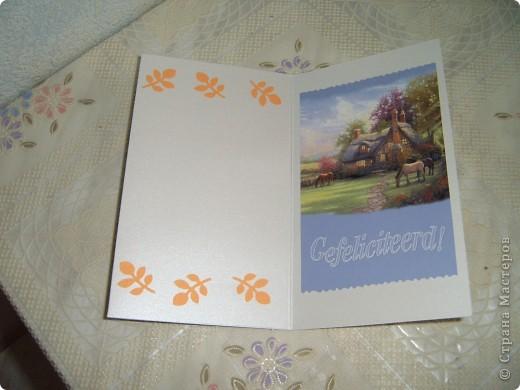 Вот такие открытки  сделаны были моим друзьям в Голландию. На этот раз я использовала интересные осенние пейзажи,в сочетании с квиллингом смотрятся очень красиво!!! фото 2