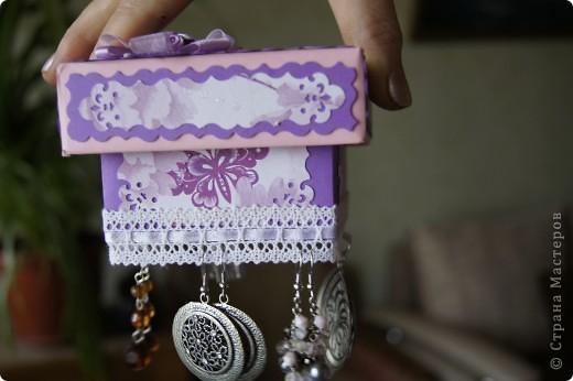 как-то подглядела на страничке Насти Рукавички замечательную идею хранения сережек и не смогла устоять перед искушением соорудить нечто подобное для своей любимой мамочки! фото 2