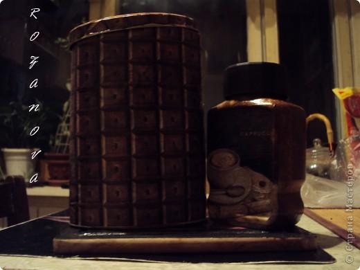 Появился кусочек свободного времени,украсила баночки из под сахара и кофе) фото 1