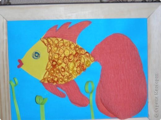 """Квиллинг Сказка """"золотая рыбка"""""""