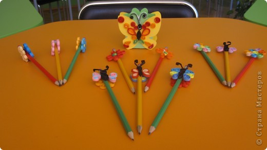 "Подставка ""Бабочка"" для карандашы фото 4"