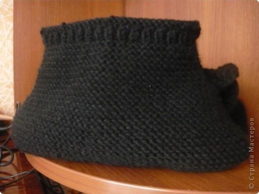 Вязанная сумочка-клатч розшытая лентами фото 4