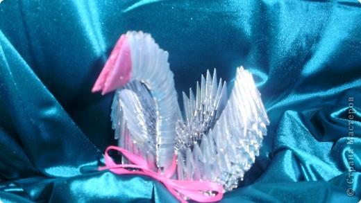 Это лебедь всё из тойже журнальной бумаги покрашено краской из балончика.Сделано по МК http://stranamasterov.ru/technic/swan?tid=451%2C328 фото 3