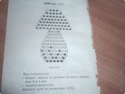 Как сделать из бисера грибок