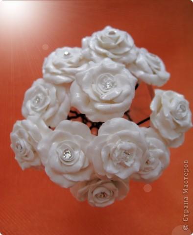 Попросили украсить шпильки для прически невесты фото 2