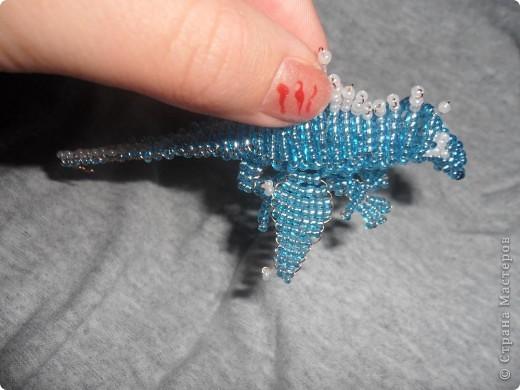 Сделала второго дракона из бисера!Его длина 10 см..Назвала я его Гоша! Вот первый дракончик. http://stranamasterov.ru/node/229005 фото 4