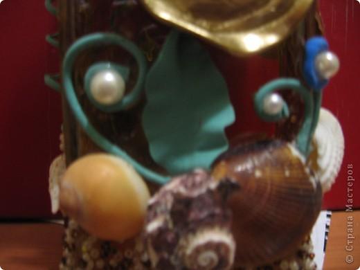 Вот еще одна моя работа по бутылкам))). Правда Золотая рыбка получилась немного неудачно, как вседа задумка всегда немного не соответствует выполненому варианту. но я  очень торопилась, хочу повторить когда нибудь этот замысел с рыбкой)) фото 4