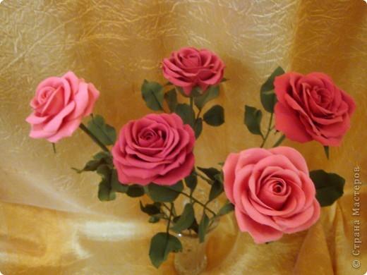 Розы лепила из Деко, тренируюсь пока на форме. Но розы из ХФ и пластики ему подобной нравятся больше. Еще очень хочеться научиться подкрашивать лепестки и листочки. Тогда цветы будут более натуральные. Но пока вот так. фото 3