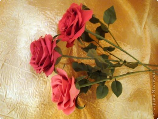 Розы лепила из Деко, тренируюсь пока на форме. Но розы из ХФ и пластики ему подобной нравятся больше. Еще очень хочеться научиться подкрашивать лепестки и листочки. Тогда цветы будут более натуральные. Но пока вот так. фото 4