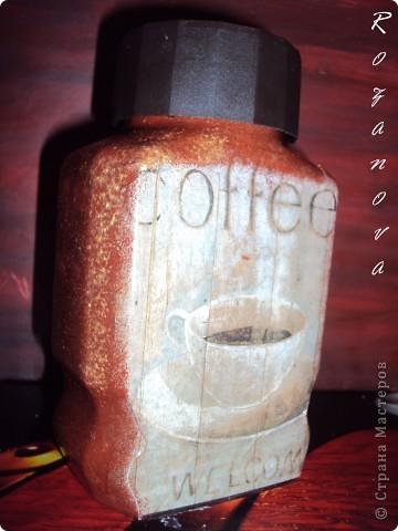 Появился кусочек свободного времени,украсила баночки из под сахара и кофе) фото 3