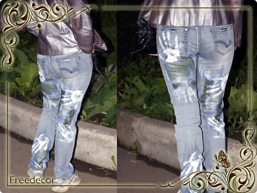 Креативные джинсы